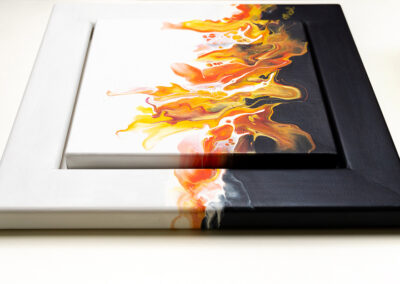 """Acrylic Pouring """"On Fire"""""""