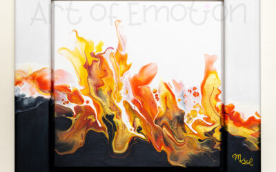Acrylic Pouring – I'm on fire