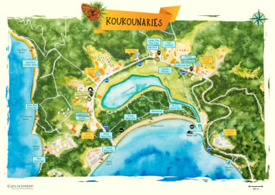 Skiathos Koukounaries Map