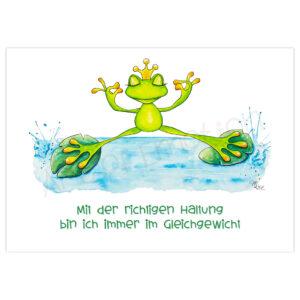 Druck Froschkönig