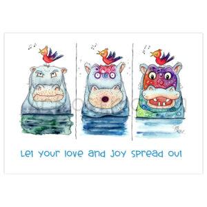 Druck Happy Hippo